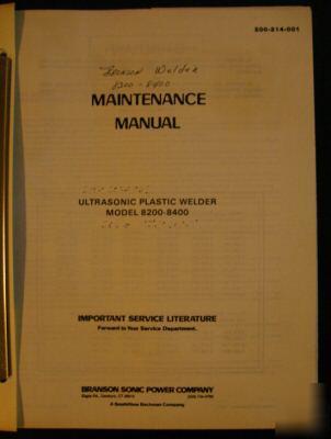 Larson Maintenance Manuals