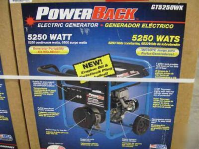 Power Back 5 250 Watt Portable Generator Gt5250 Wk