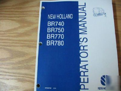 New Holland Br740 Br750 Br770 Br780 Operators Manual border=