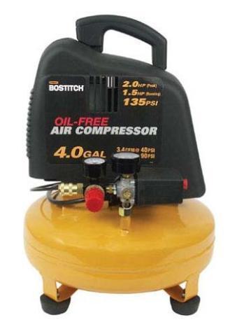 New Bostitch 4 Gal 2 Hp Pancake Compressor
