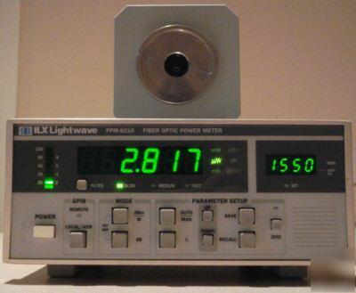 Ilx Lightwave Fpm 8210 Fiberoptic Power Amp Optical Meter