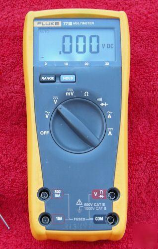 Fluke 77 Multimeter : Fluke iii digital multimeter nice w leads