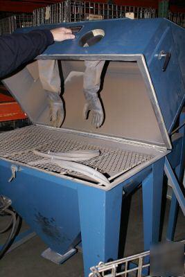 blast blaster cabinet siphon dust collector
