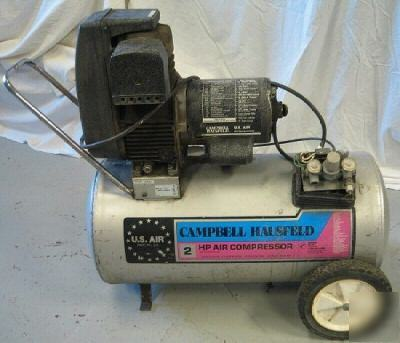 Campbell Hausfeld 2 Hp 20 Gal Air Compressor 125 Psi