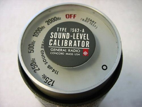 Genrad 1562-a permissible sound level calibrator 1562A
