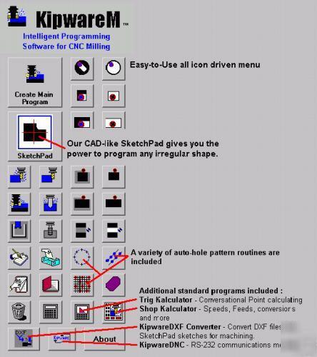Kipwarem - conversational cnc software - milling