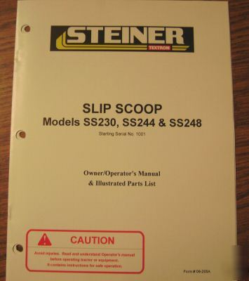 Steiner tractor slip scoop operator's manual
