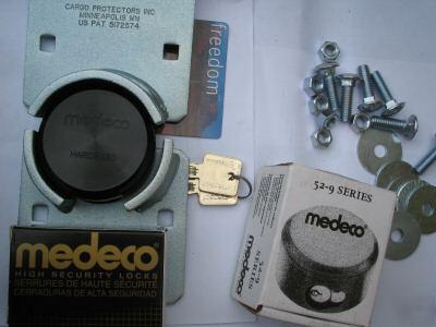 2 Medeco M3 High Security Round Padlock Amp Hasp