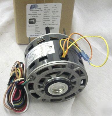 1  4 hp 1075 230v 3 speed furnace blower fan motor 3584 electric furnace wiring