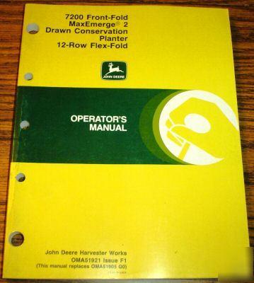 john deere 7200 planter manual