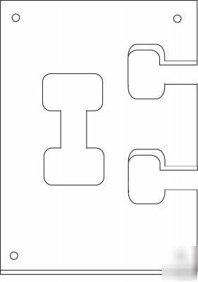 flipbolt countertop connector template by fastcap. Black Bedroom Furniture Sets. Home Design Ideas