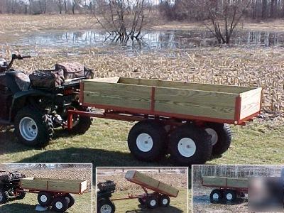 Atv Trailer Wagon Dump Bed Garden Utility 7500 Atv