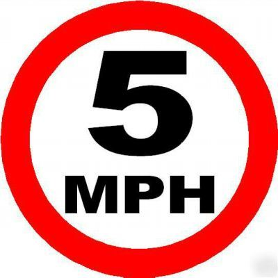 5 Mph Speed Limit Sign Notice